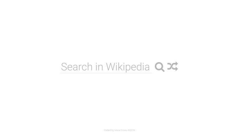 Free Code Camp Wikipedia Viewer