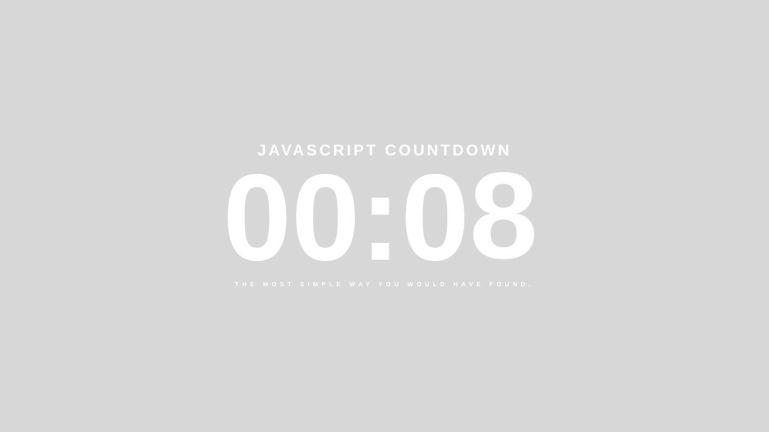 Javascript Countdown
