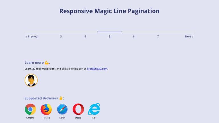Responsive Magic Line Pagination