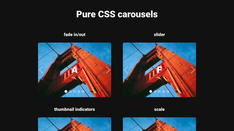 Pure CSS Carousels