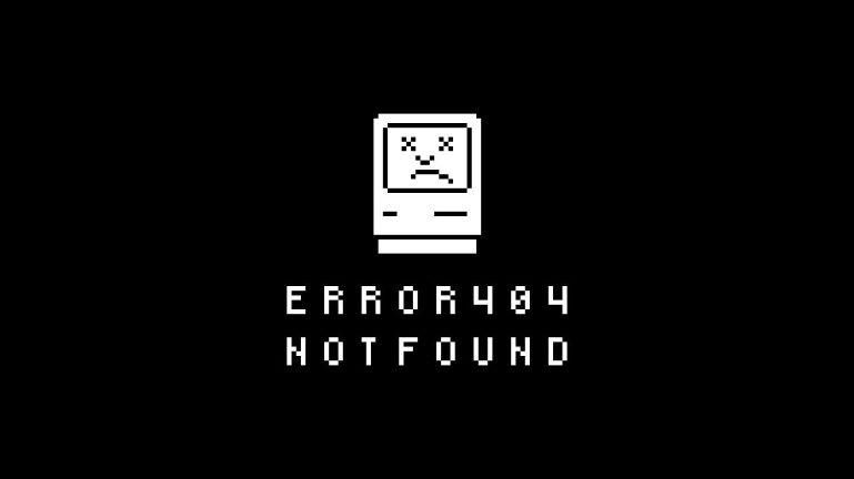 Sad Mac 404 Error Page