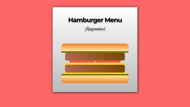 CSS Responsive Hamburger menu