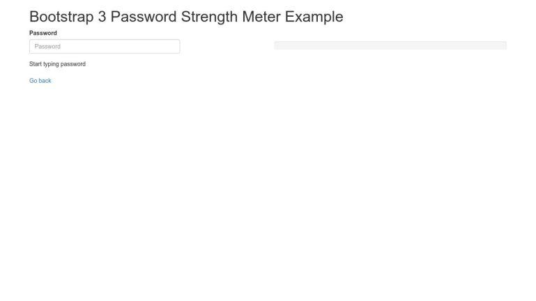 Bootstrap 3 Password Strength Meter Example