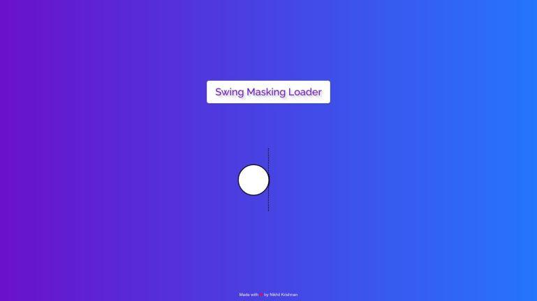 Swing Masking Loader