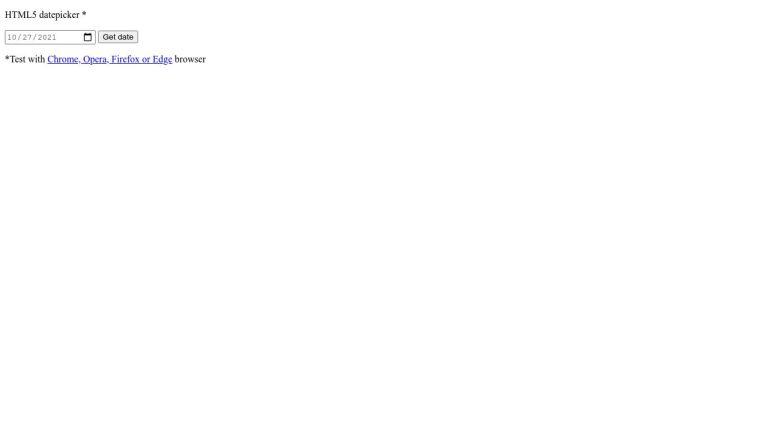 HTML5 input with datepicker demo