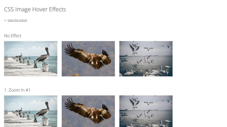 demo:CSS image hover effects