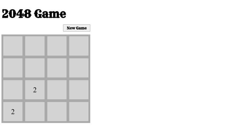 2048 game short