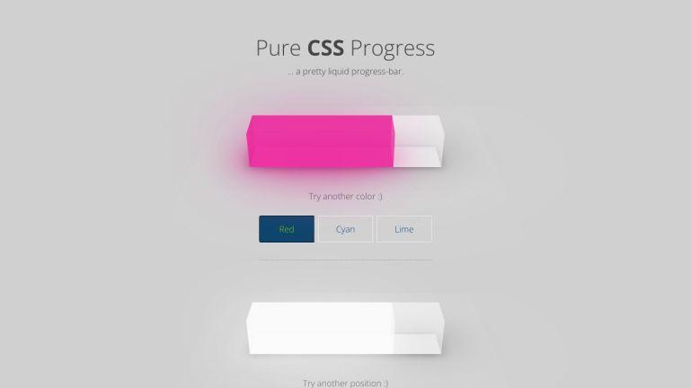 Pure CSS Progress Bar
