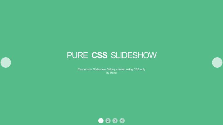Pure CSS Slideshow Gallery