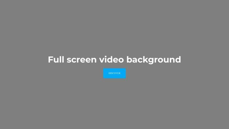Full screen video background