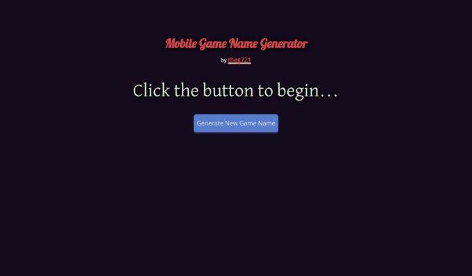 Good Game Names Generator | Games World