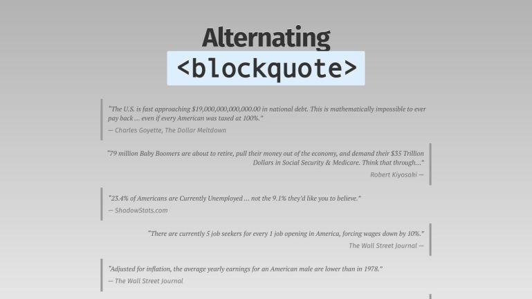 Alternating Blockquotes