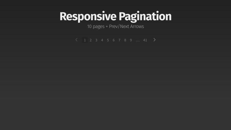 Responsive Pagination