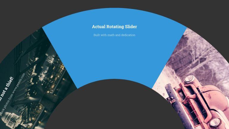 Actual Rotating Slider