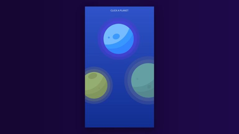Planets App SVG Animation