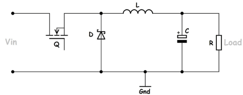 C2000 Solar MPPT Tutorial buck converter circuit
