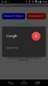 MSP430 Voice Control Over Bluetooth (6/6)