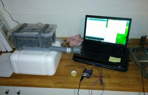 Greenhouse Heat sink Prototype Material Granite Chipes Testing - coder-tronics