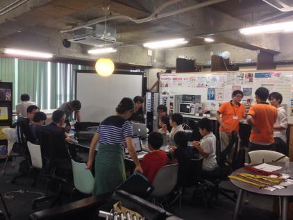 小学生・中学生向けプログラミング教室(CoderDojoさいたま第7回2014年9月6日)開催レポート