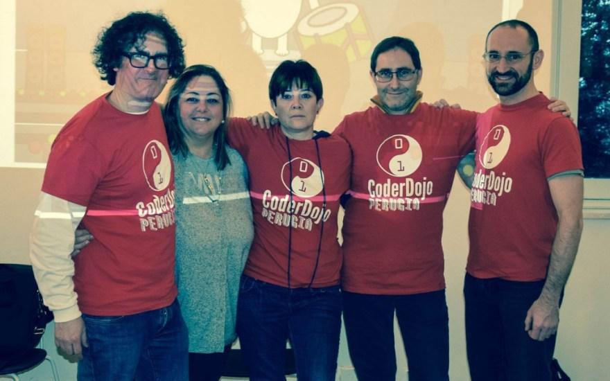 Foto di Gruppo: i mentor del CoderDojo di Perugia