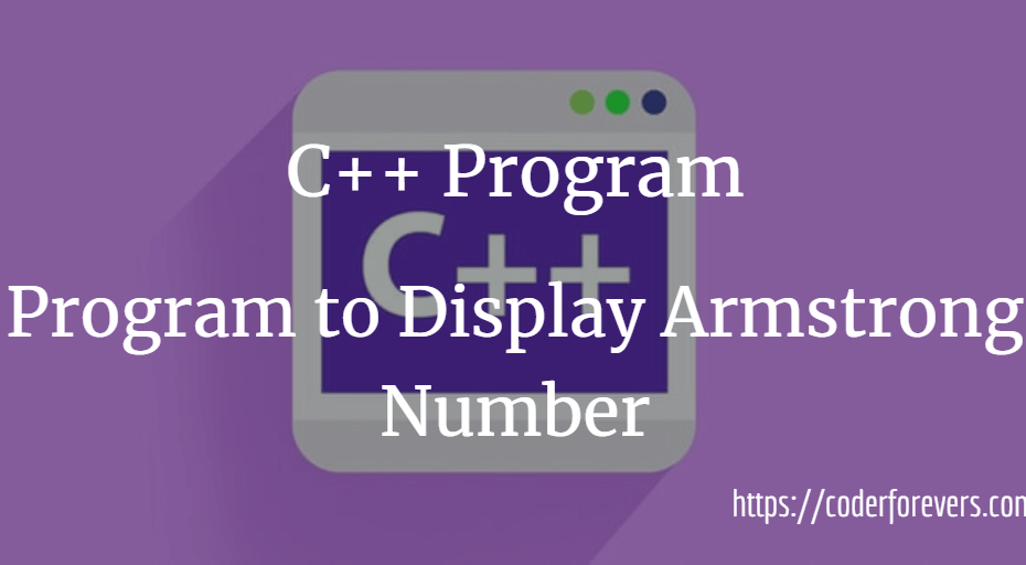 Program to Display Armstrong Number