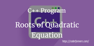 Find Quadratic Equation Roots