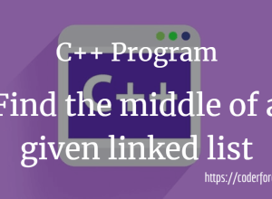 Find the middle of a given linked list