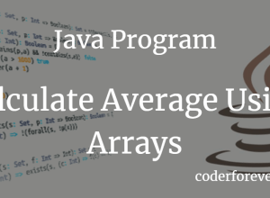 Java Program to Calculate Average Using Arrays