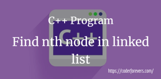 nth node in linked list