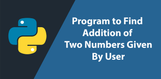 add two given numbers by user