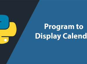 Display Calendar in Python