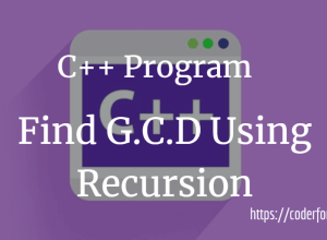 Program to Find GCD Using Recursion