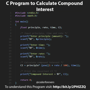 C Program to Calculate Compound Interest