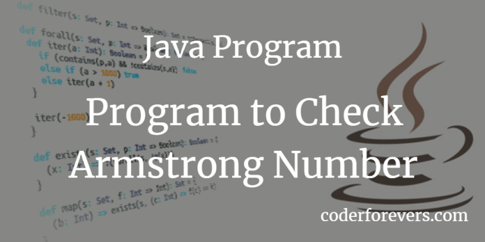 Java Program to Check Armstrong Number