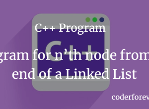 C++ Program for n'th node from the end of a Linked List