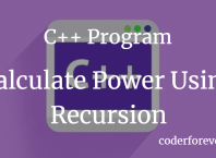 Calculate Power Using Recursion