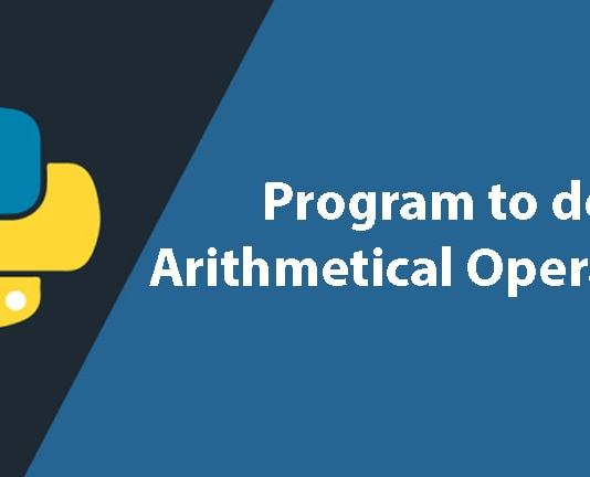 Python Program to do arithmetical operations