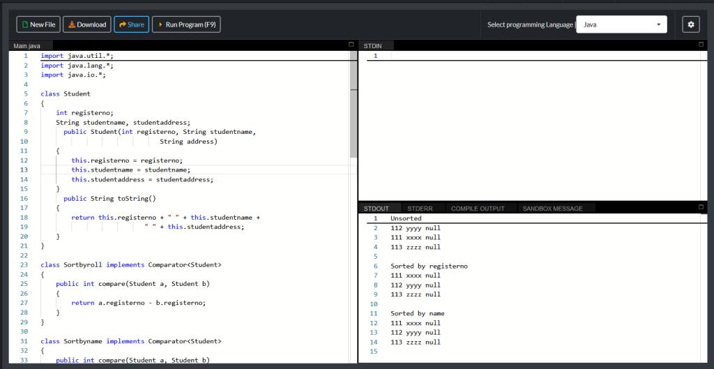 Array sorting in Java