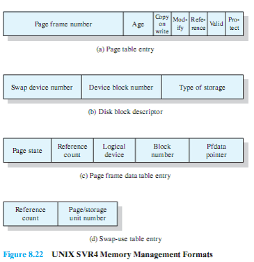 unix-svr4-memory-management-formats
