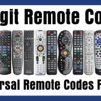 4 Digit Universal Remote Control Codes For TV