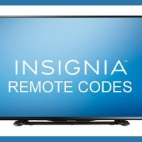 Remote Control Codes For INSIGNIA TVs