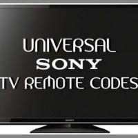 Remote Control Codes For SONY TVs