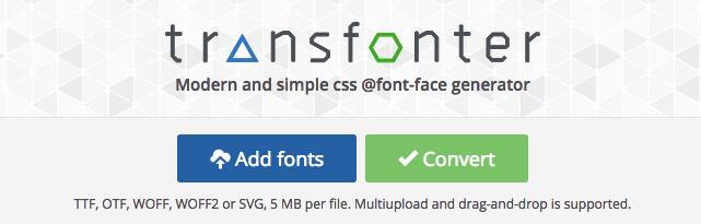 Convert web font với Transfonter - Code Tốt