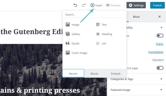 Thêm block mới trong Gutenberg