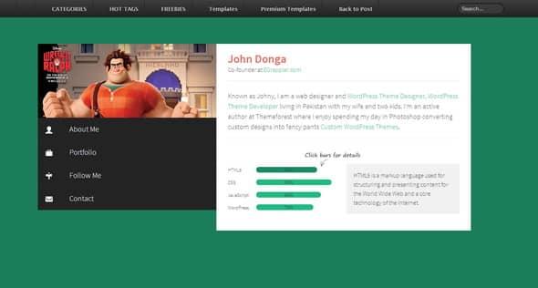 Profile-HTML-Portfolio-Template