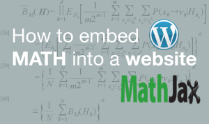 How to setup MathJax with a CMS(WordPress, Ghost) plus sweet syntax highlighting