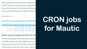 How to setup CRON jobs for Mautic