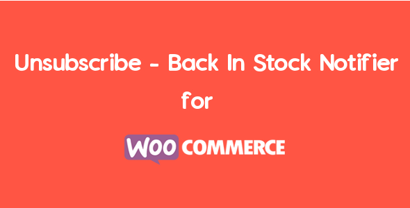 Unsubscribe – Back In Stock Notifier For WooCommerce | WooCommerce Waitlist Pro