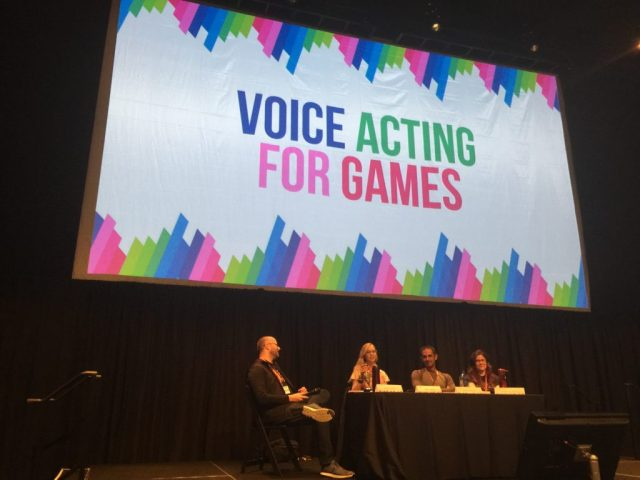 A great panel including voice actors, employers, and developers