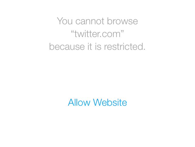 you can't browse twitter it is restricted